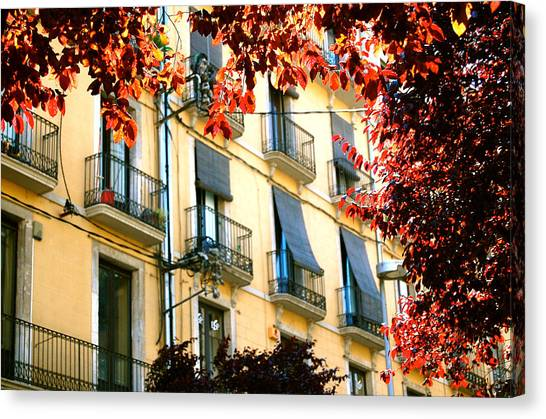 Canvas Print featuring the photograph Autumn Spain by HweeYen Ong