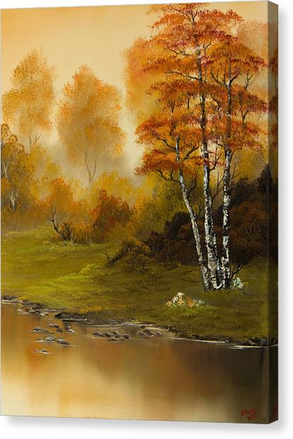 Bob Ross Canvas Print - Autumn Splendor by Chris Steele