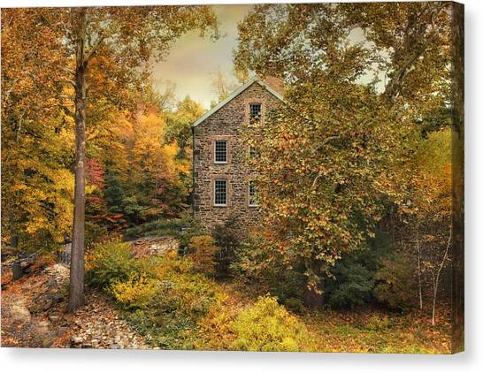 Autumn Stone Mill Canvas Print