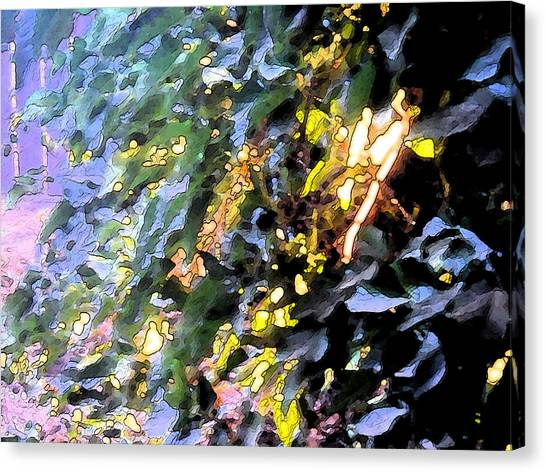 Autumn Sun On Leaves Canvas Print