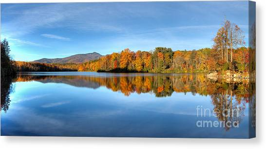 Autumn Sunrise At Price Lake Canvas Print