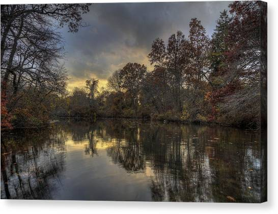 Autumn Sunset On West Brook Pond Canvas Print
