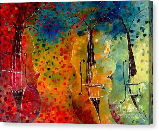 Autumn Symphony Canvas Print by Amalia Suruceanu
