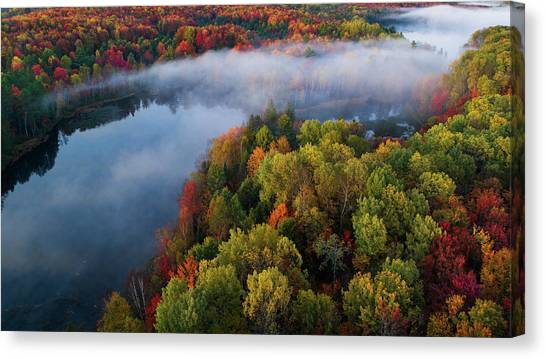 Aerial Canvas Print - Autumn Symphony II by John Fan