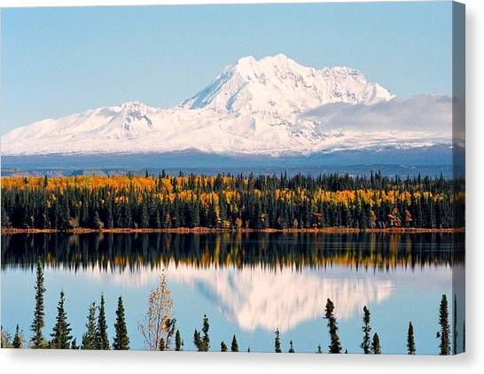 Autumn View Of Mt. Drum - Alaska Canvas Print
