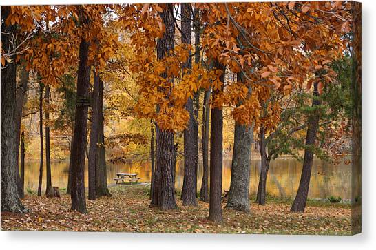Indiana Autumn Canvas Print - Autumn View by Sandy Keeton