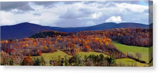 Autumn View Toward Mount Greylock Canvas Print