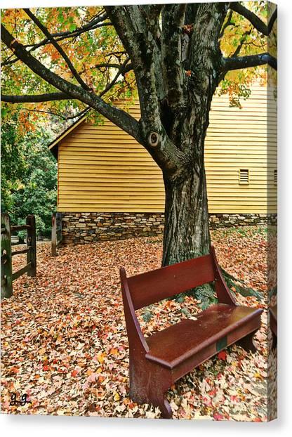Autumn Wait Canvas Print