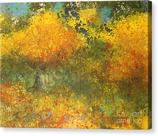 Autumn Walk Canvas Print by Gwen Nichols
