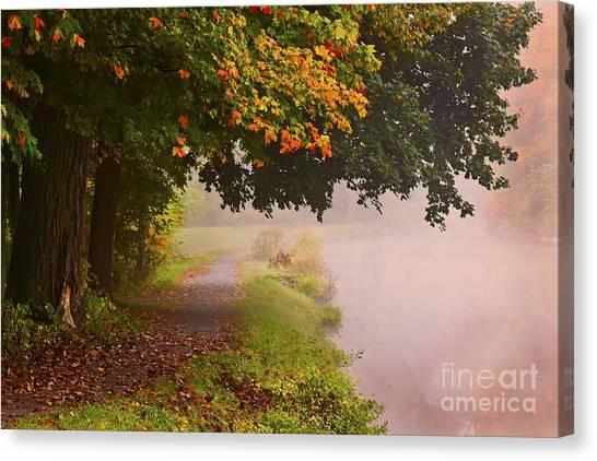 Autumn Walk Canvas Print by Julie Palyswiat