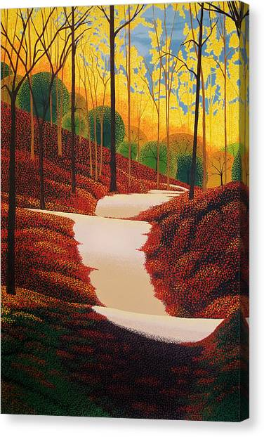 Autumn Walk Canvas Print by Michael Wicksted
