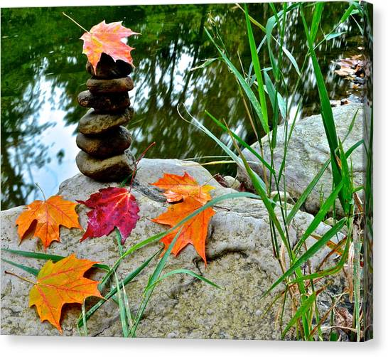 Karma Canvas Print - Autumn Zen by Frozen in Time Fine Art Photography