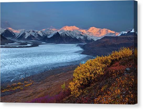 Glaciers Canvas Print - Autumn's Last Light by Doug Roane