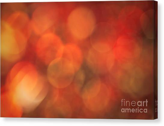 Autumnal Amber Canvas Print