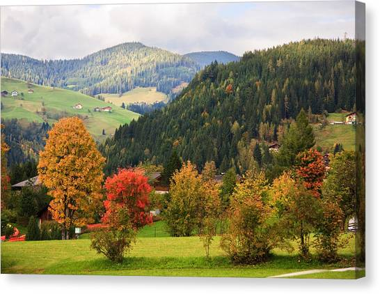 Autumnal Colours In Austria Canvas Print