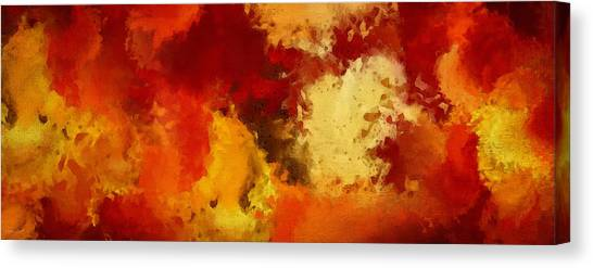 Maple Leaf Art Canvas Print - Autumn's Abstract Beauty by Lourry Legarde