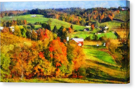 Ohio Valley Canvas Print - Autumn's Glory Enters The Ohio Valley by Dan Sproul