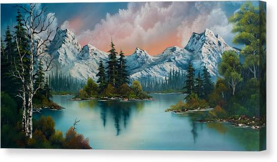 Bob Ross Canvas Print - Autumn's Glow by Chris Steele