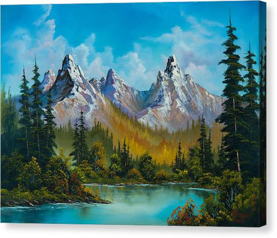 Bob Ross Canvas Print - Autumn's Magnificence by Chris Steele
