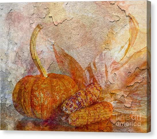 Indian Corn Canvas Print - Autumn's Warmth by Heidi Smith