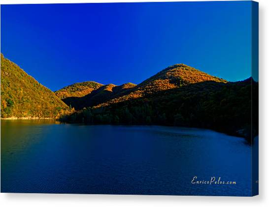 Autunno Tramonto Sul Lago - Autumn Lake Sunset Canvas Print by Enrico Pelos