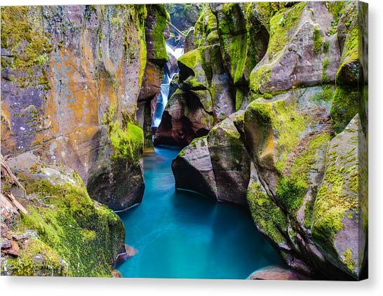 Avalanche Gorge 1 Of 4 Canvas Print