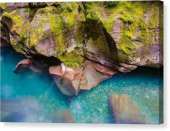 Avalanche Gorge 2 Of 4 Canvas Print