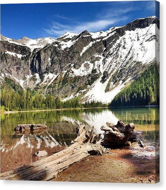 Glaciers Canvas Print - #avalanche #lake Is A 3.5-hour #hike At by Mindful Adventure