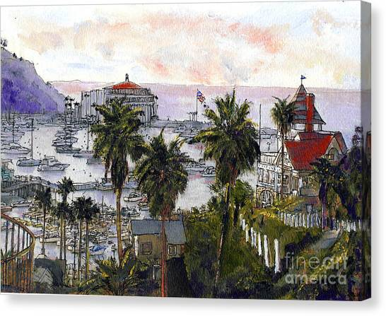 Avalon Harbor Early Morning Canvas Print
