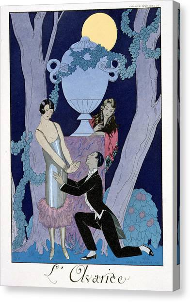Confessions Canvas Print - Avarice by Georges Barbier