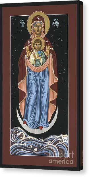 Ave Maris Stella  Hail Star Of The Sea 044 Canvas Print