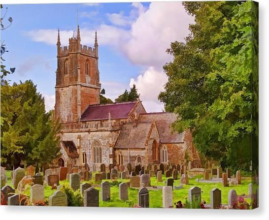 Avebury Church -1 Canvas Print