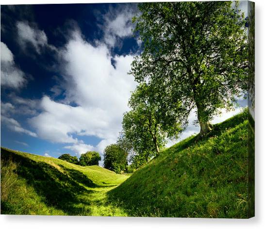 Canvas Print featuring the photograph Avebury Hillside by Julian Cook