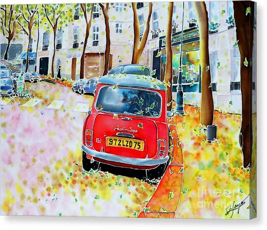 Avenue Junot In Autumn Canvas Print