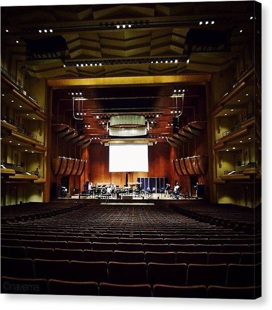 Architectureporn Canvas Print - Avery Fisher Hall by Natasha Marco