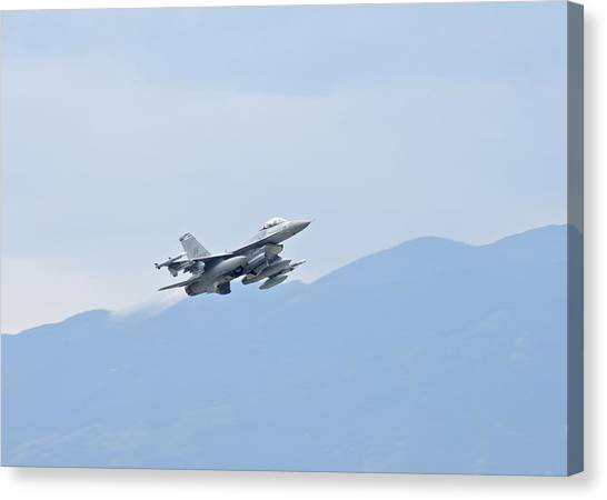 F16 Canvas Print - Aviano F16 by JC Findley