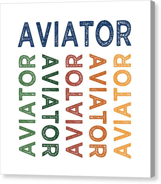 Aviators Canvas Print - Aviator Cute Colorful by Flo Karp