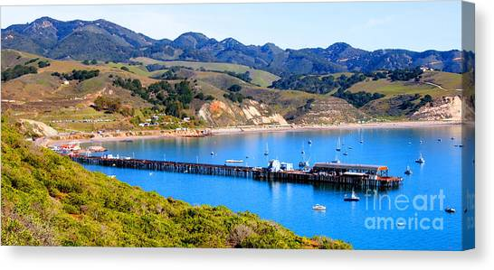 Avila Beach California Fishing Pier Canvas Print