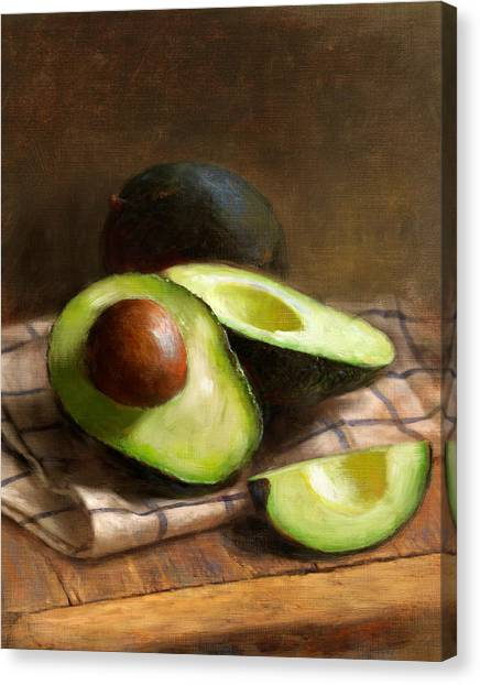Food Canvas Print - Avocados by Robert Papp