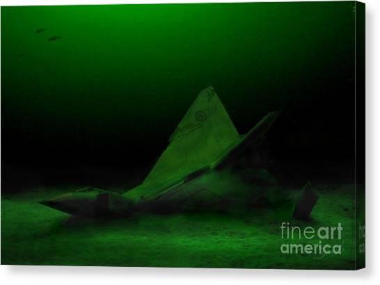 Nato Canvas Print - Avro Arrow In Lake Ontario by Tom Straub