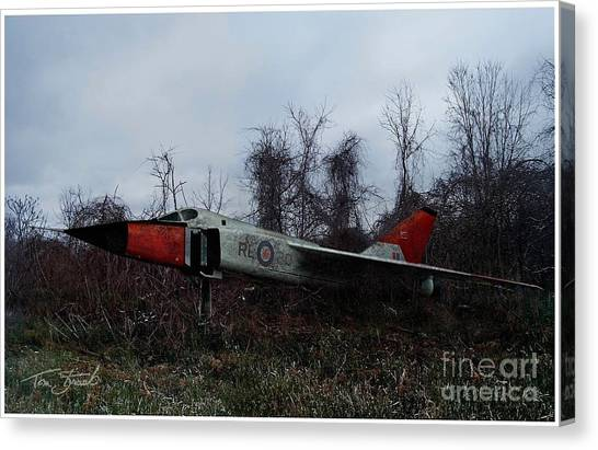 Nato Canvas Print - Avro Arrow In The Cove by Tom Straub
