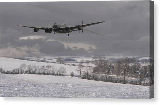 Avro Lancaster - Limping Home Canvas Print