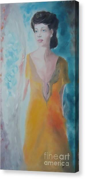 Awaiting Canvas Print by Angela Melendez