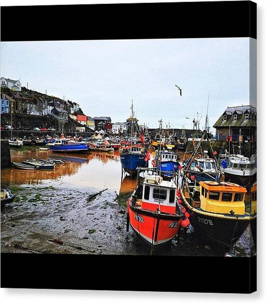 Fishing Boats Canvas Print - Awaiting The Tide by Peter Bromfield