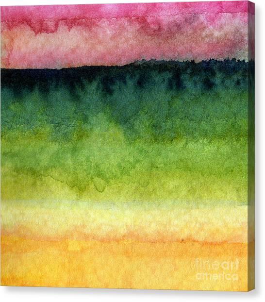 Navy Blue Canvas Print - Awakened Too by Linda Woods