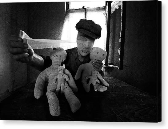 Doll Canvas Print - Awakening by Mario Grobenski -