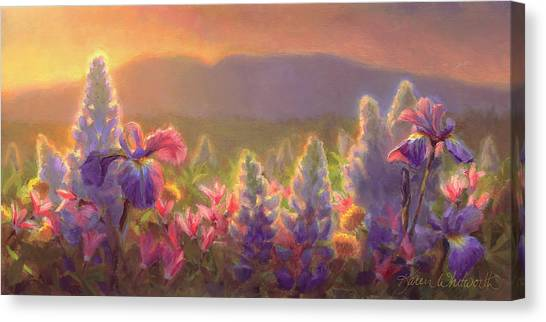 Awakening - Mt Susitna Spring - Sleeping Lady Canvas Print