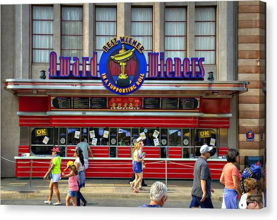 Hotdogs Canvas Print - Award Wieners by Ricky Barnard
