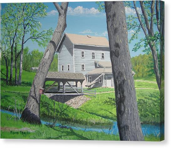 Award-winning Painting Of Beckman's Mill Canvas Print