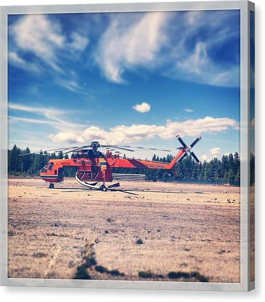 Helicopters Canvas Print - Awesome Fire Equipment In Chester Today by Brian Taylor